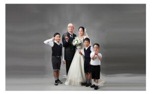 ブライダル家族写真